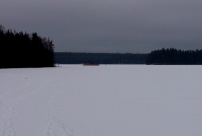 Angelsee im Winter